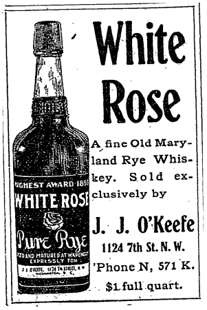 J.J. O'Keefe's advertisement - 1905