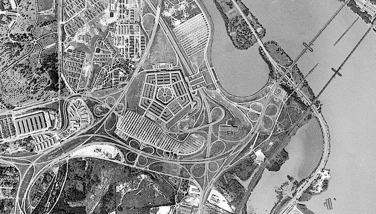 1940s High-Altitude Photo of D.C. and Arlington
