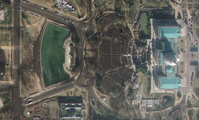 Obama's First Inauguration Seen From Space