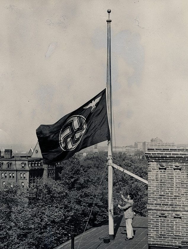 Nazi Flag Flies Over German Embassy in 1937