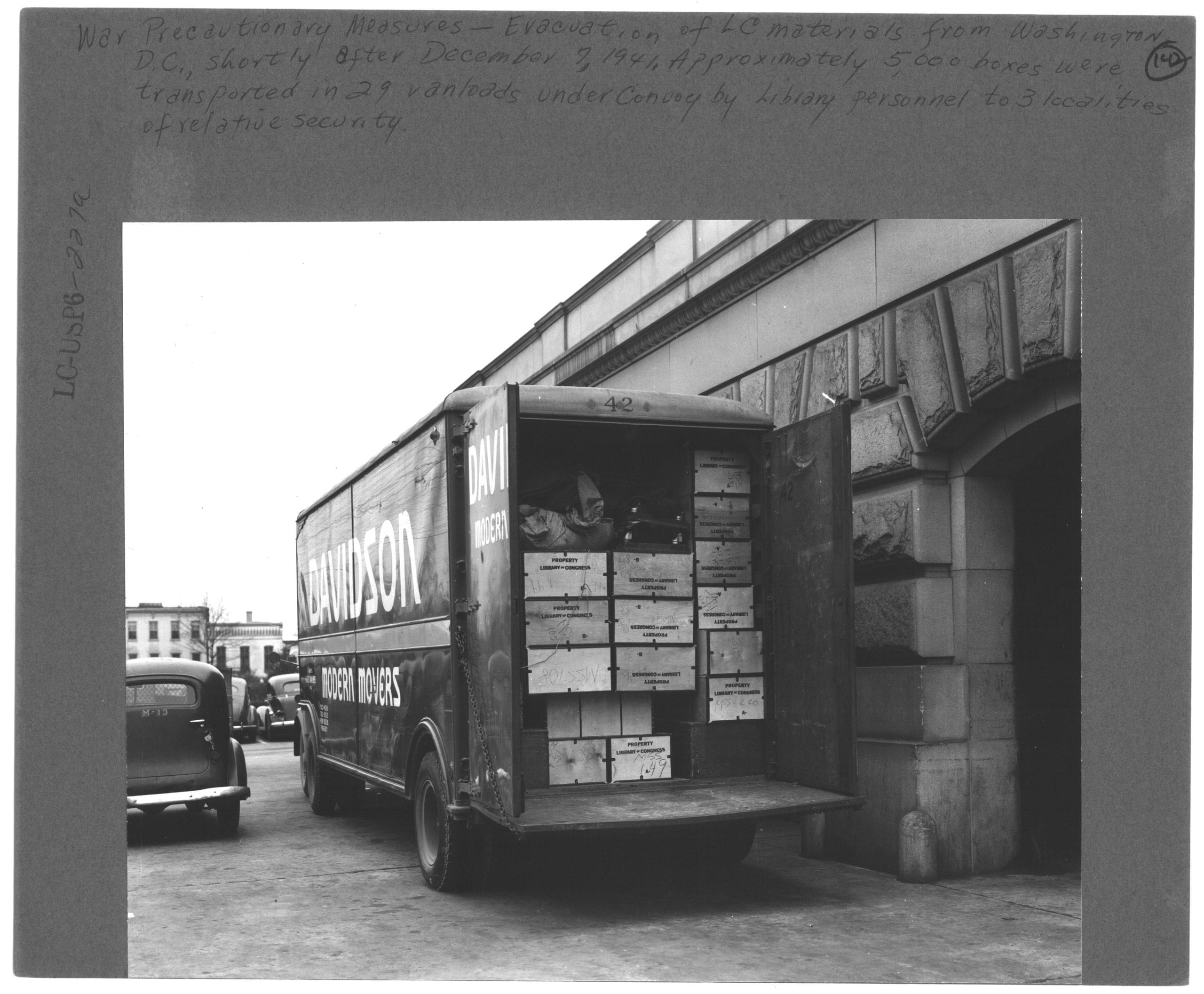 Evacuating materials from the Library of Congress