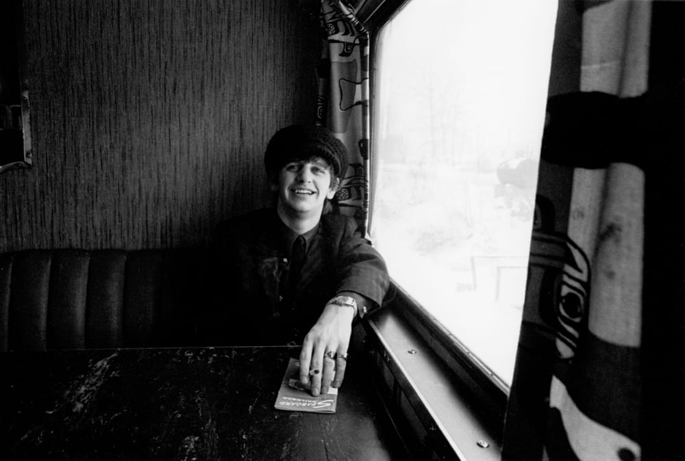 Ringo Starr on the train to DC