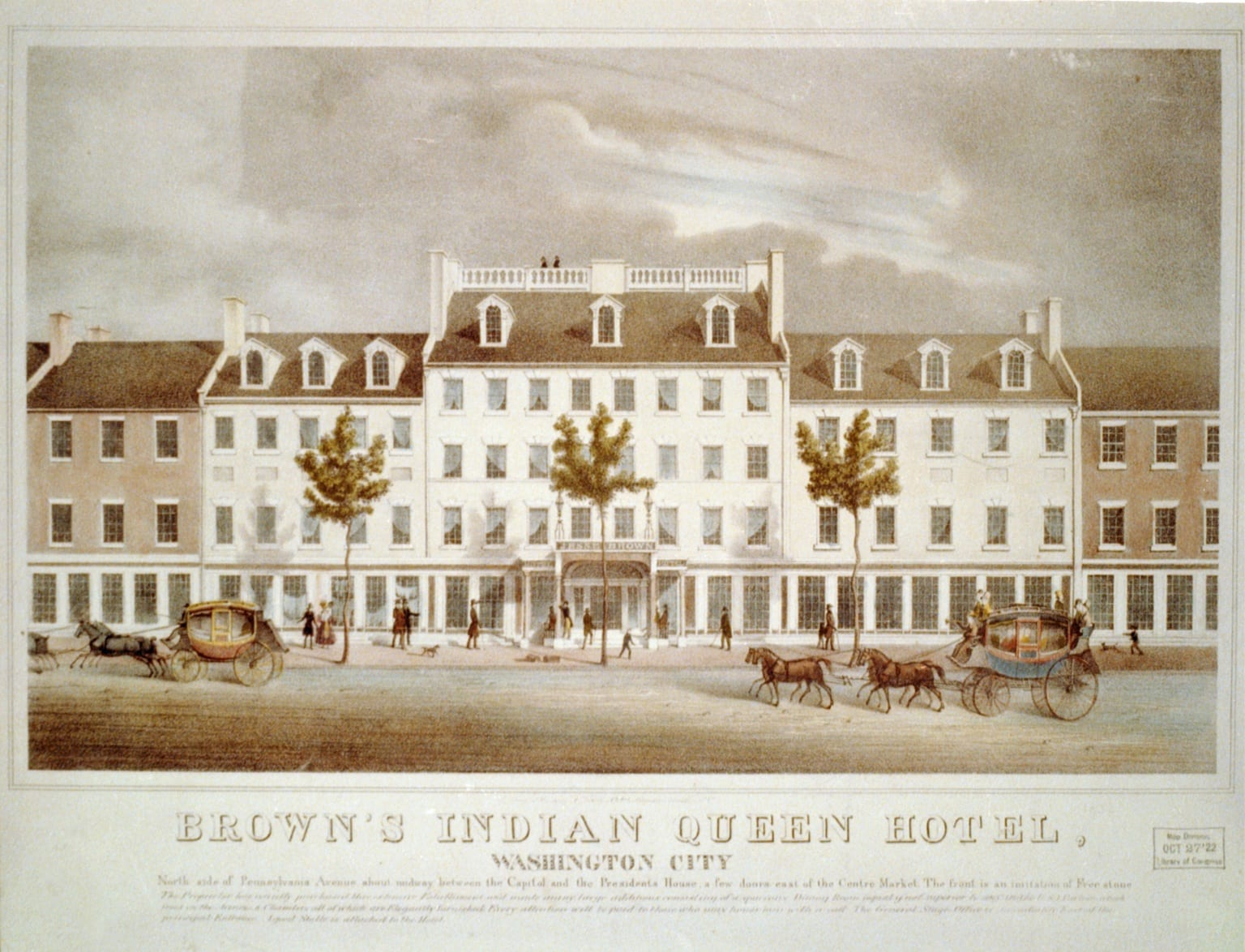 Brown's Indian Queen Hotel on Pennsylvania Avenue