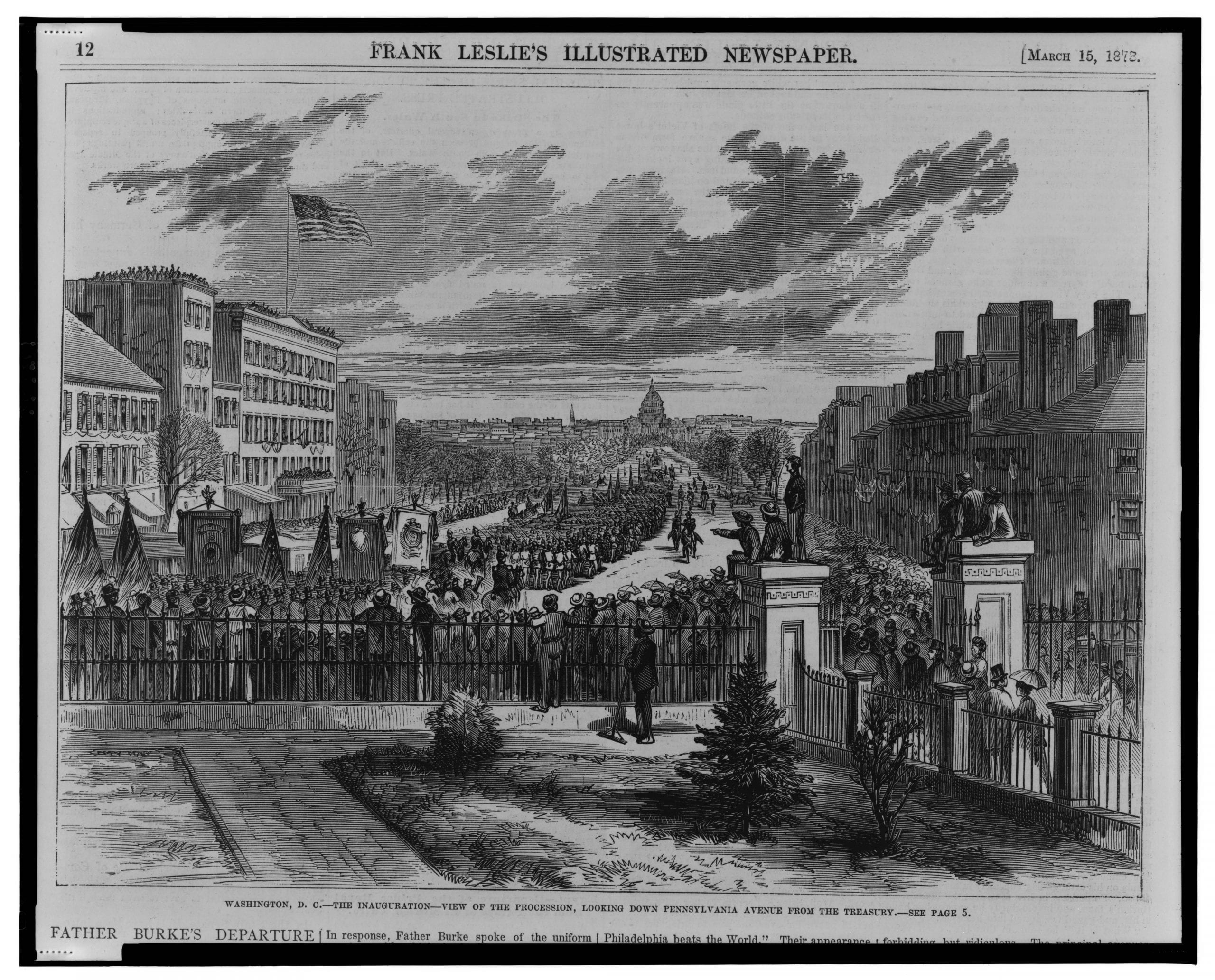 1873 Inauguration of Ulysses S. Grant