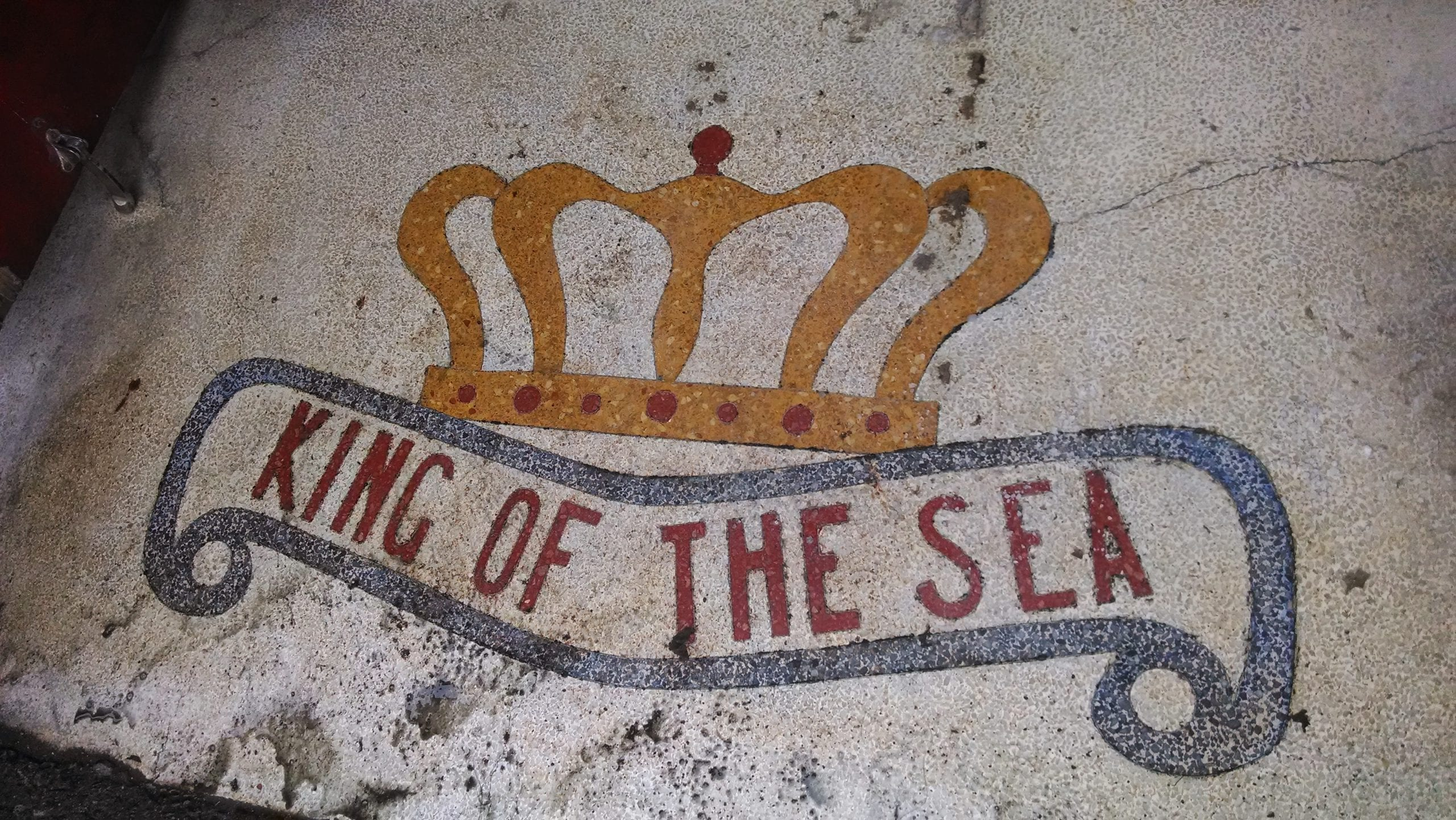 old King of the Sea sign is still there