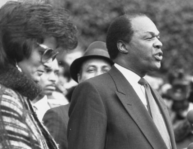 Mayor Marion Barry and his wife Effi