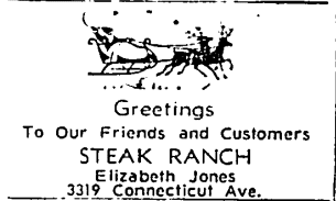 Steak Ranch - Christmas 1958 ad