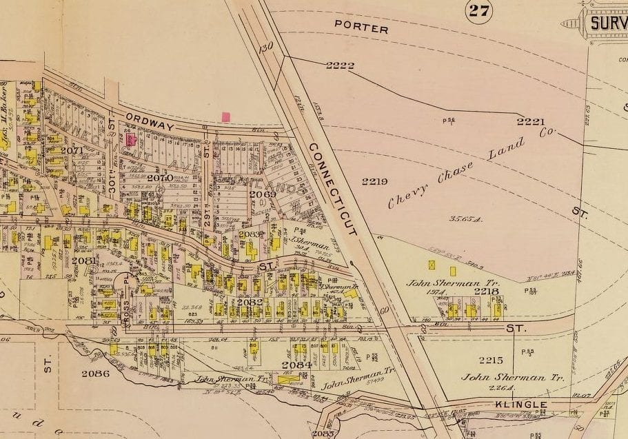 1909 map of Cleveland Park