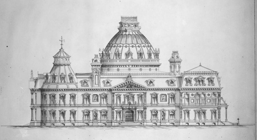 Proposed 1873 Design for Library of Congress