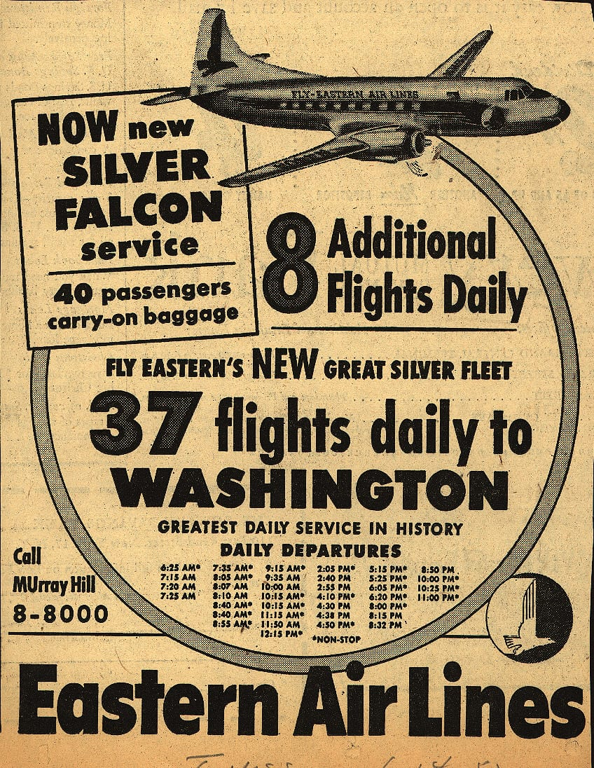 1952 Eastern Airlines ad