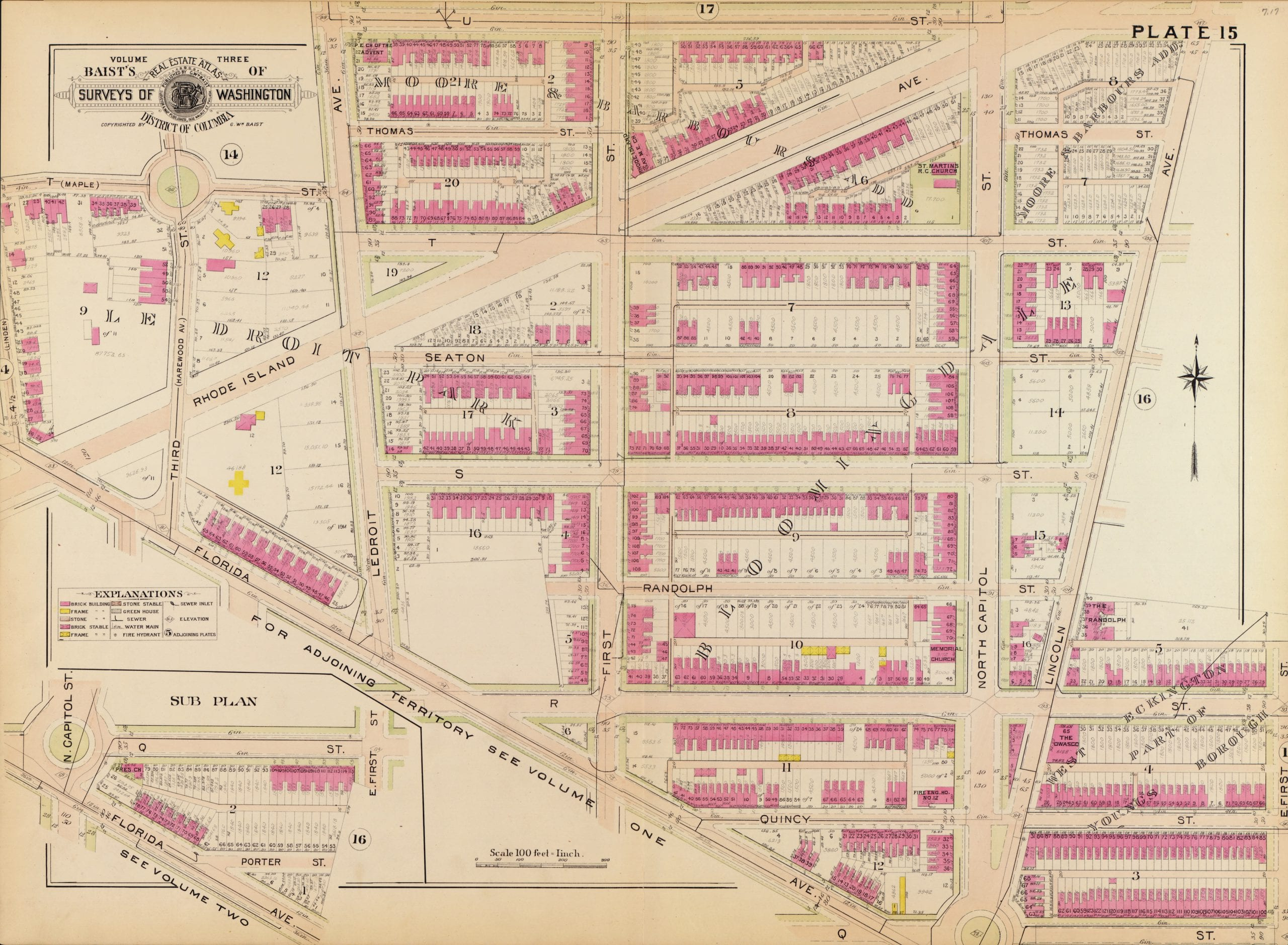 1903 Baist map of Eckington and Bloomingdale