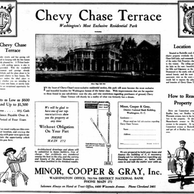 Chevy Chase ad in 1922