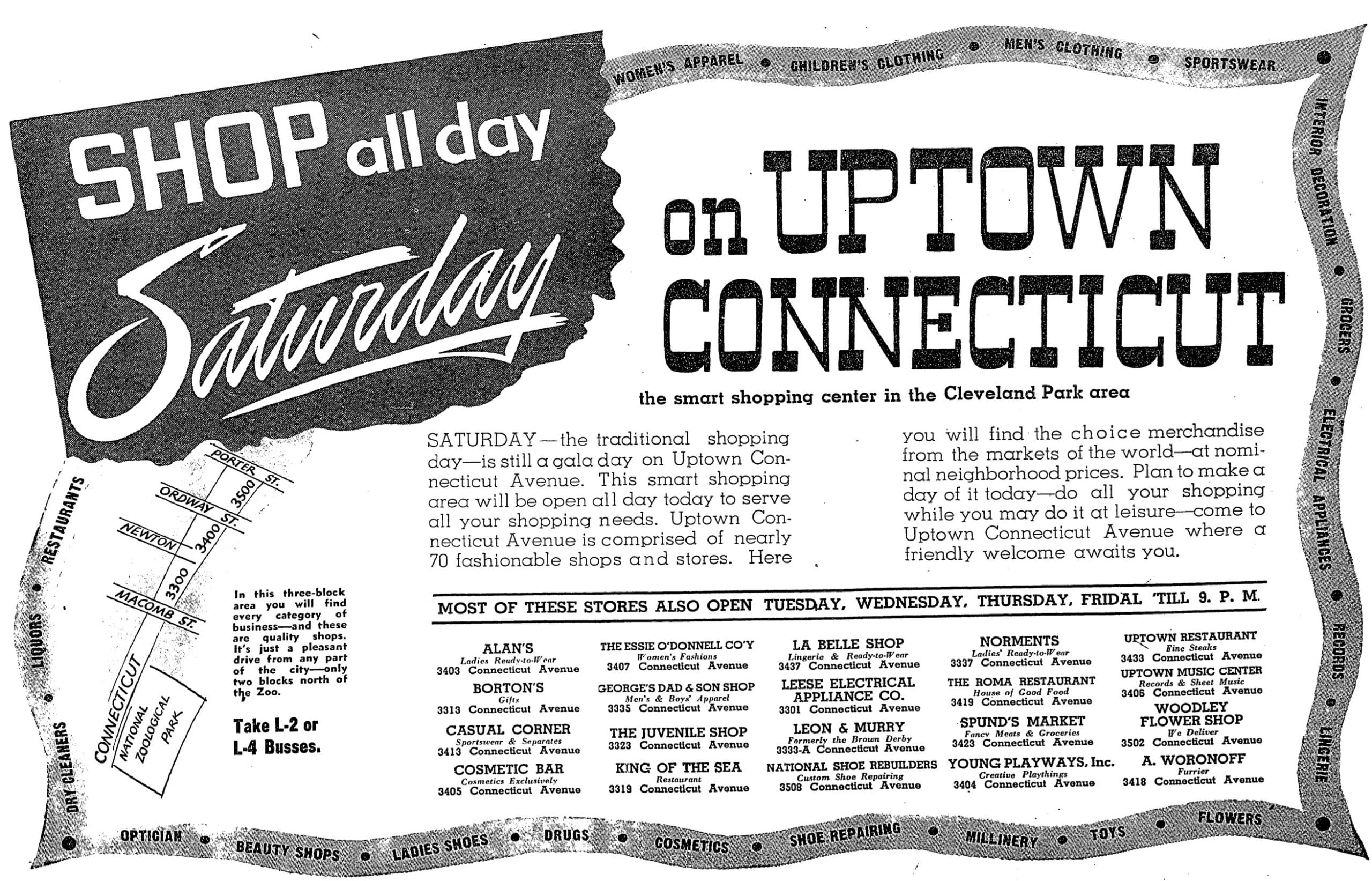 Washington Post ad July 1950