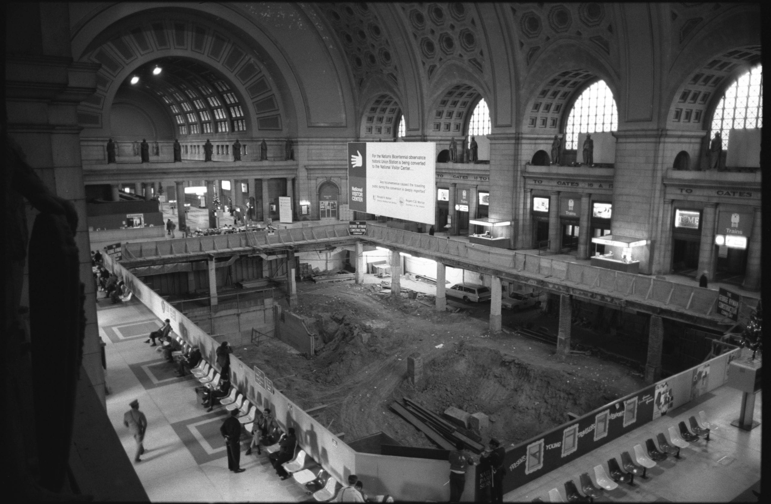 Union Station under construction in 1974