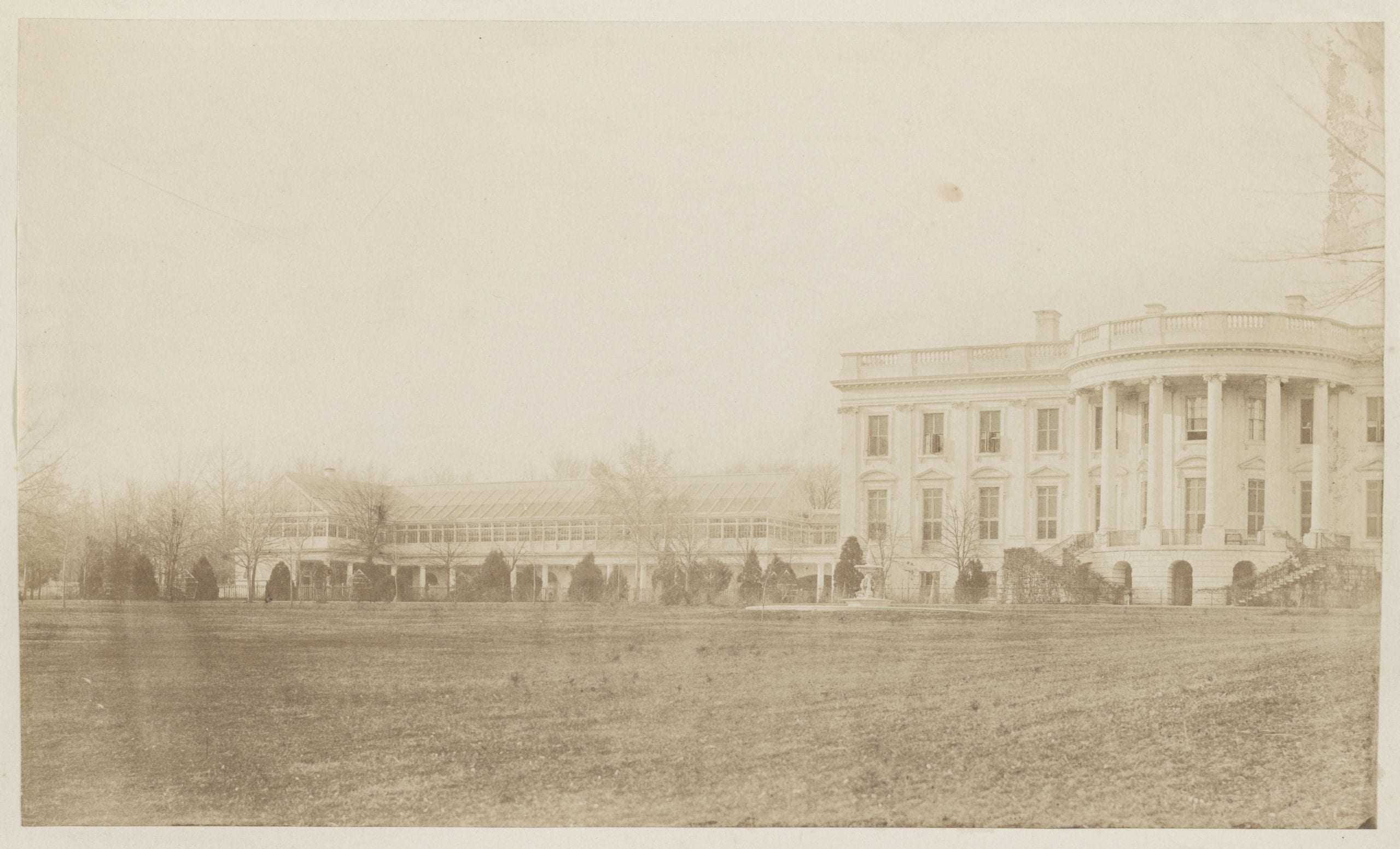 The White House conservatory in 1857