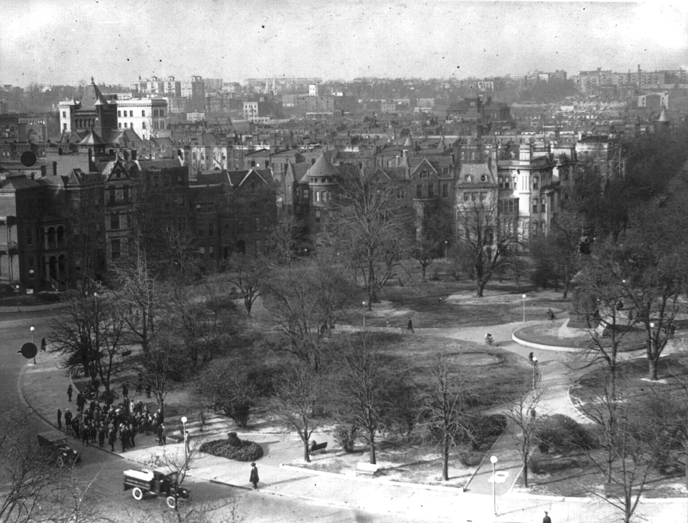 Logan Circle Aerial Photo in the 1920s