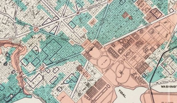 1933 Public and Zoning Area Map of D.C.