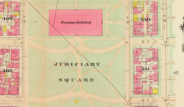 1903 Map of Judiciary Square and City Hall