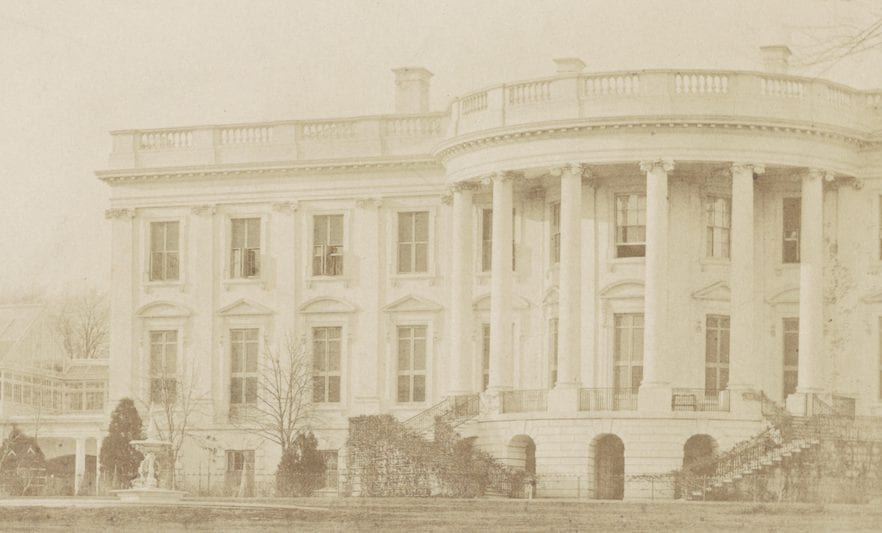 Beautiful 1857 White House and Conservatory Photo