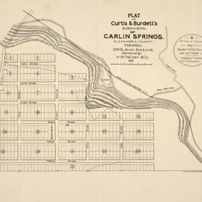 Plat of Curtis & Burdett's subdivision of Carlin Springs, Alexandria County, Virginia : 260 ft. above sea level