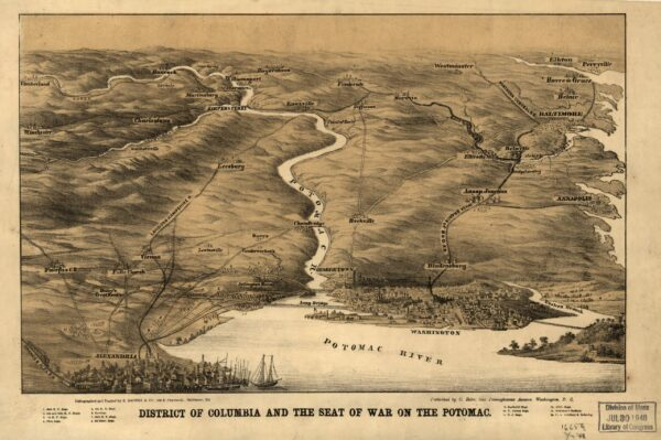 District of Columbia and the seat of war on the Potomac (1861)