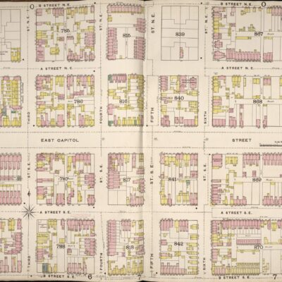 1888 map of East Capitol St.