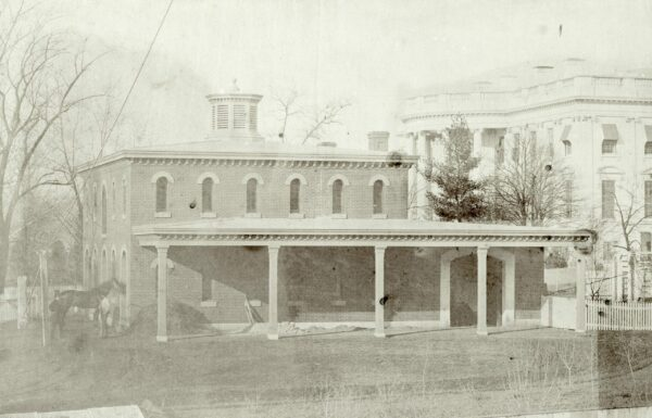 White House stables in 1857