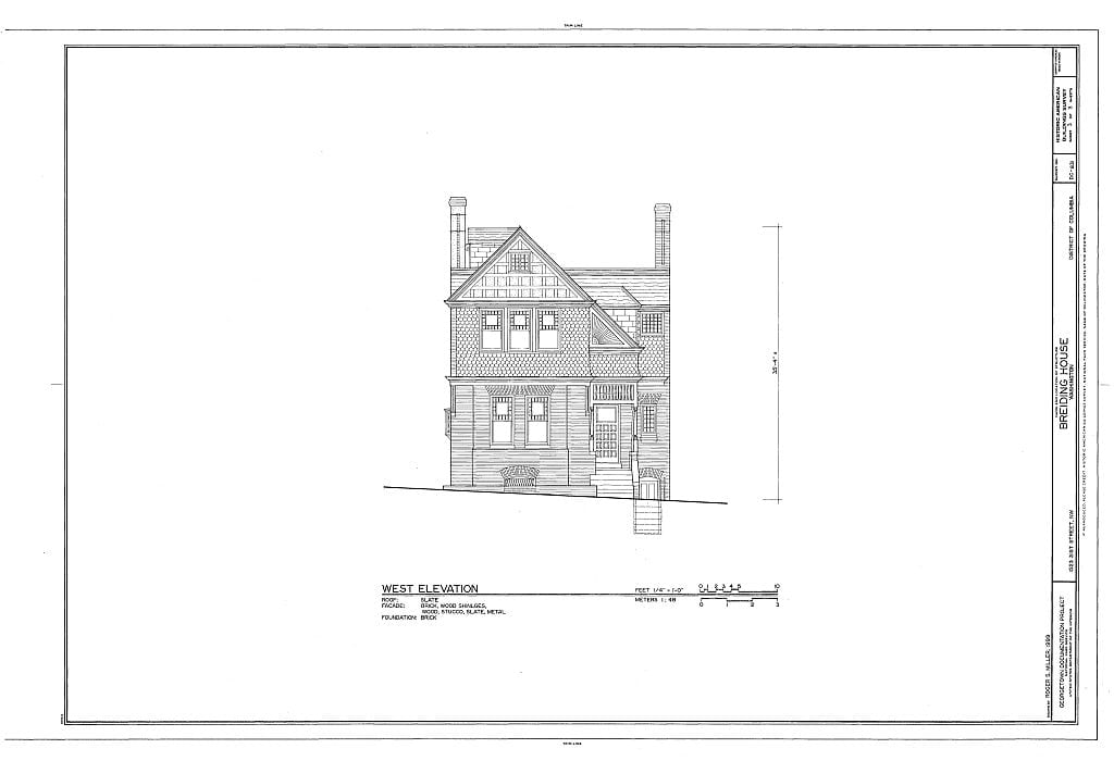west elevation of 1523 31st St. NW
