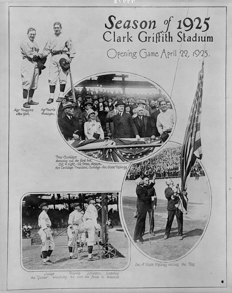 Season of 1925, Clark Griffith Stadium - opening game, April 22, 1925