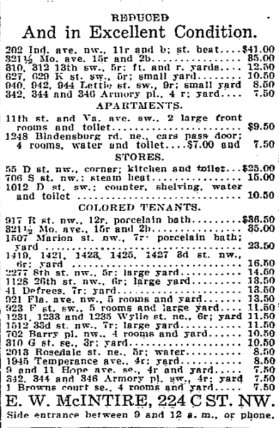 real estate listings - July 21st, 1916
