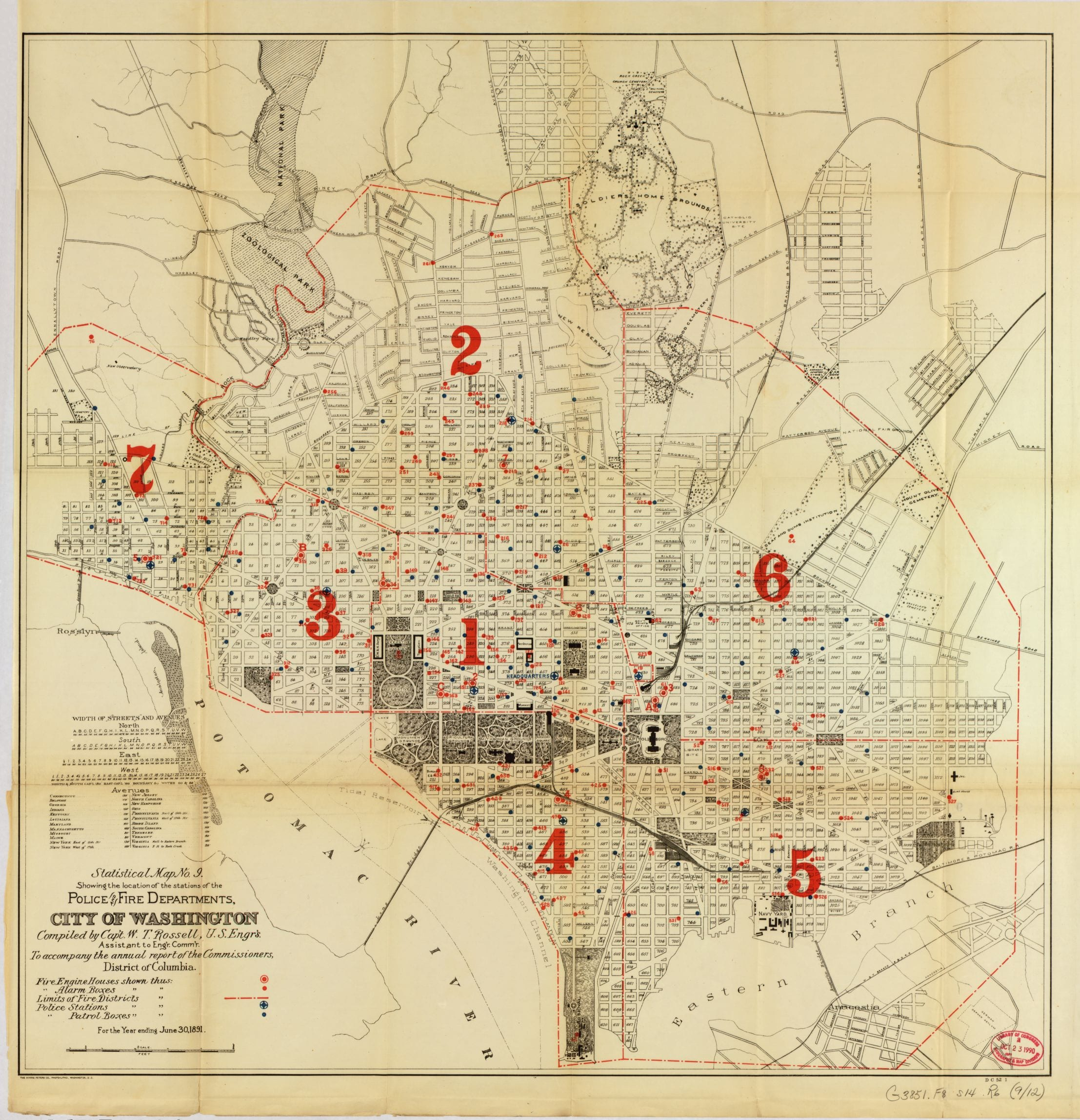 Fire and Police Station location s in 1880