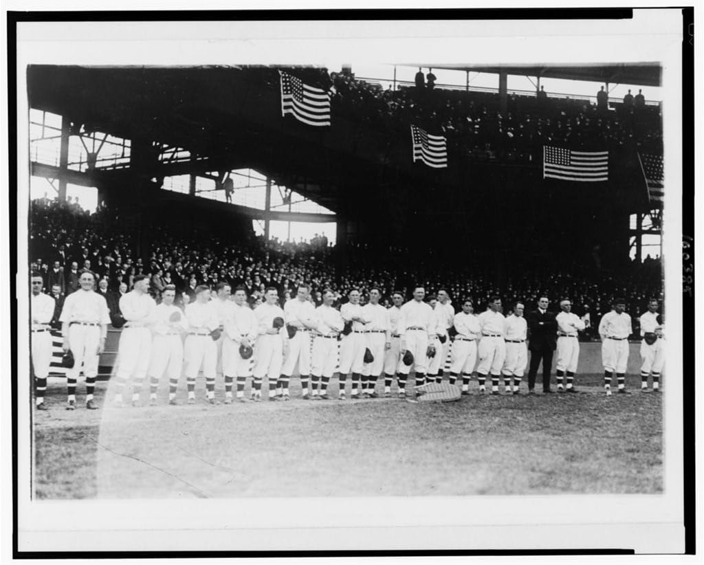 Opening day at Griffith Stadium 1918