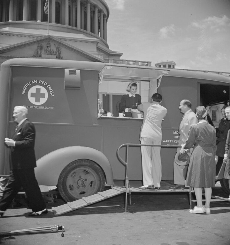 Red Cross mobile canteen 1942