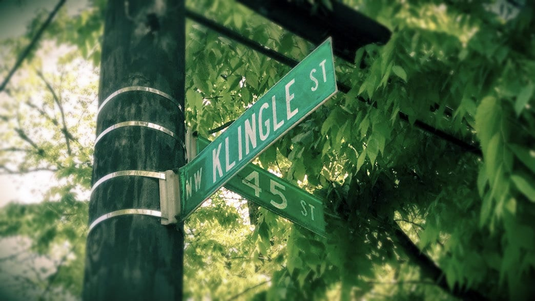 Klingle Rd. and 45th St.