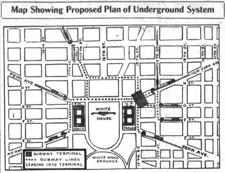 proposed underground streetcar system - 1912
