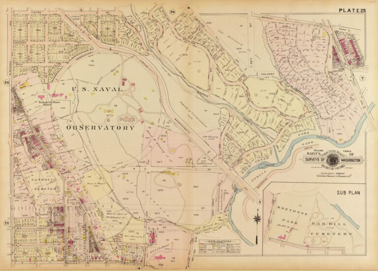 1909 map of Observatory Circle