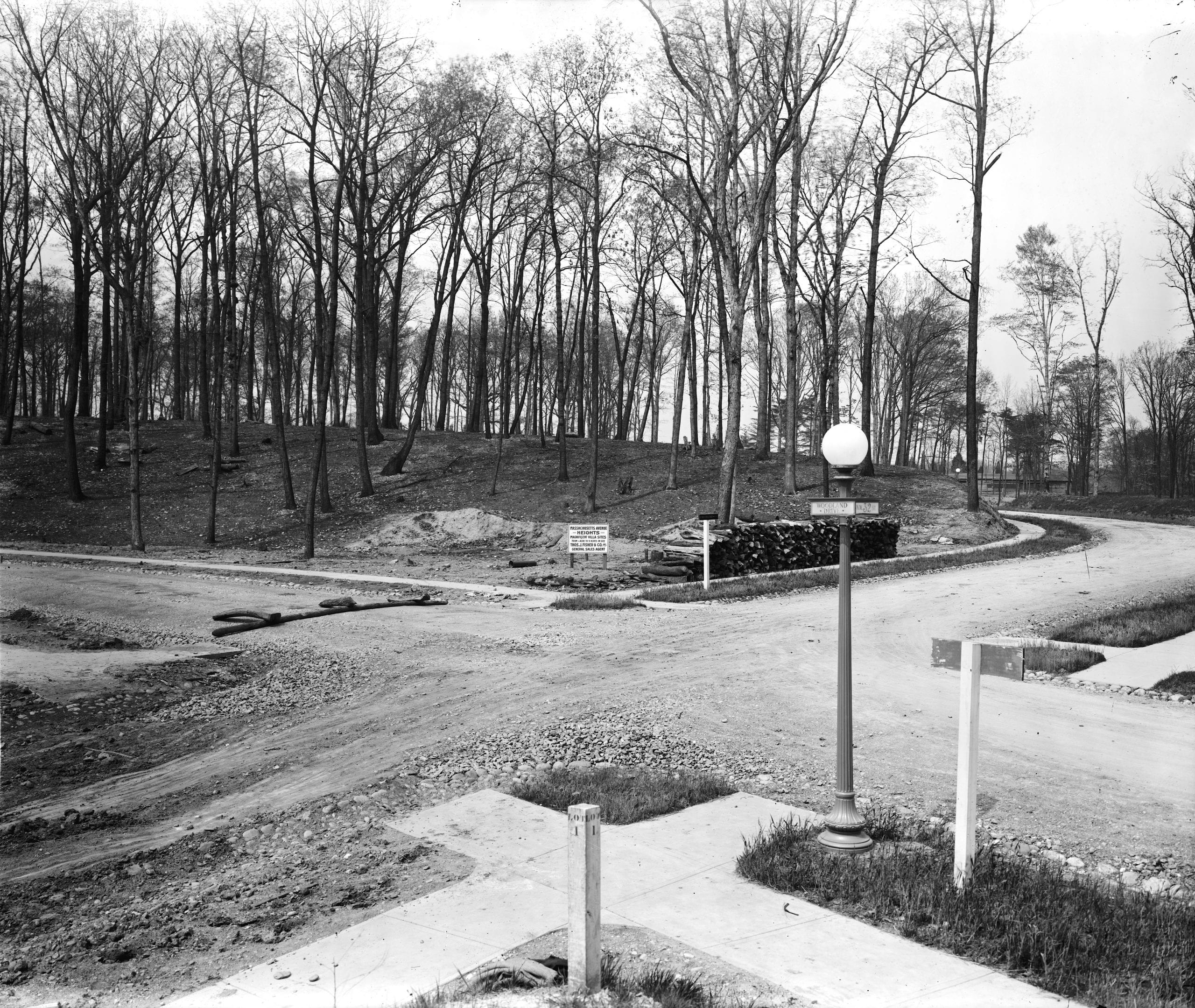 Undeveloped 32nd and Woodland Drive in Mass. Ave. Heights (1913)