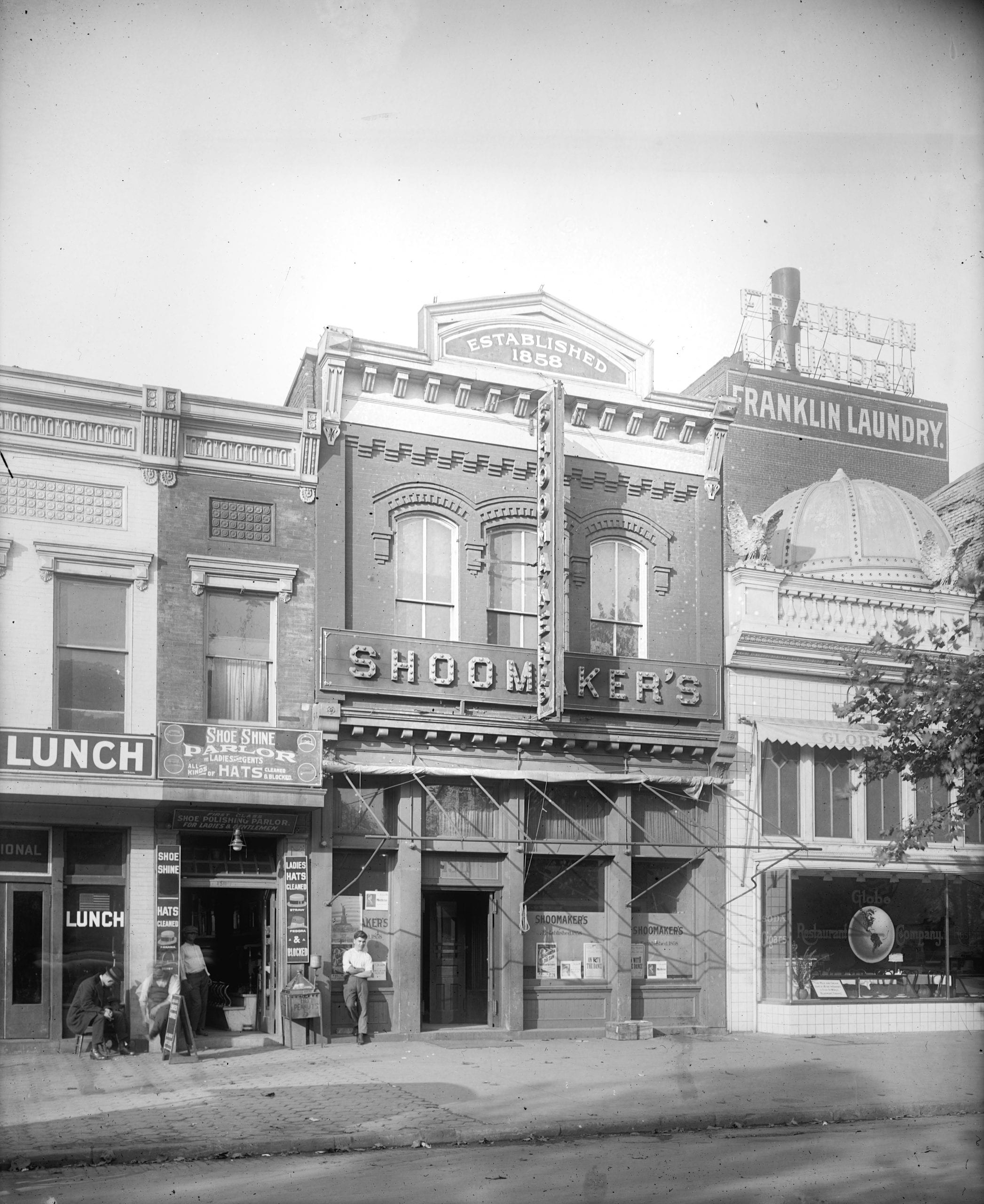 What's Behind This Detailed Downtown Photo of Shoomaker's Liquor Store in 1917?
