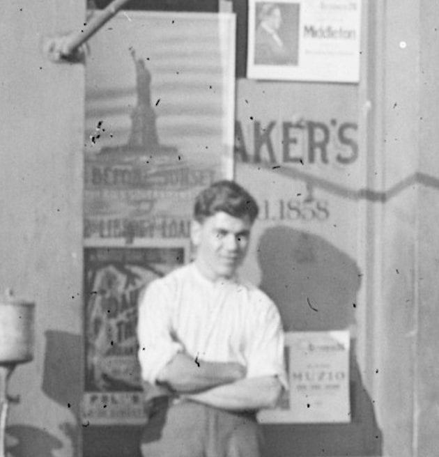 young man in front of Shoomaker's