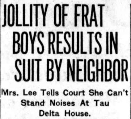 "Mass Ave. Frat House: Beer, Swearing, and ""Suggestive Songs"""