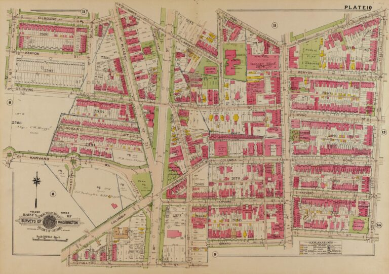 1919 map of Columbia Heights