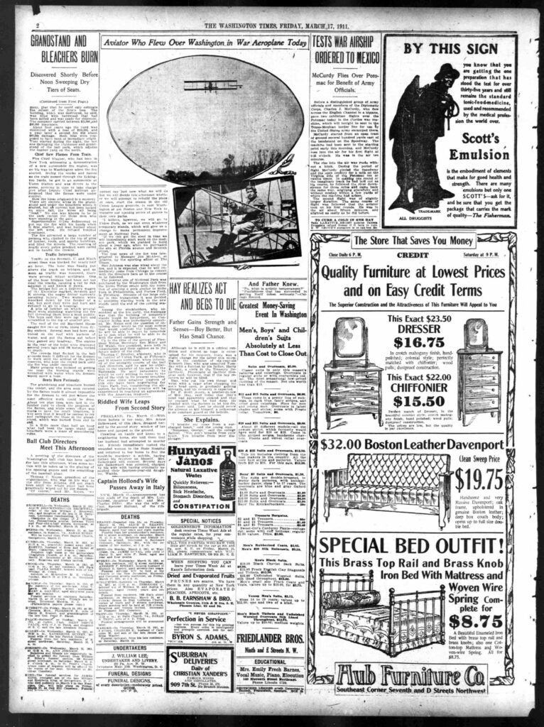 The Washington Times - Friday Evening, March 17th, 1911 (page 2)