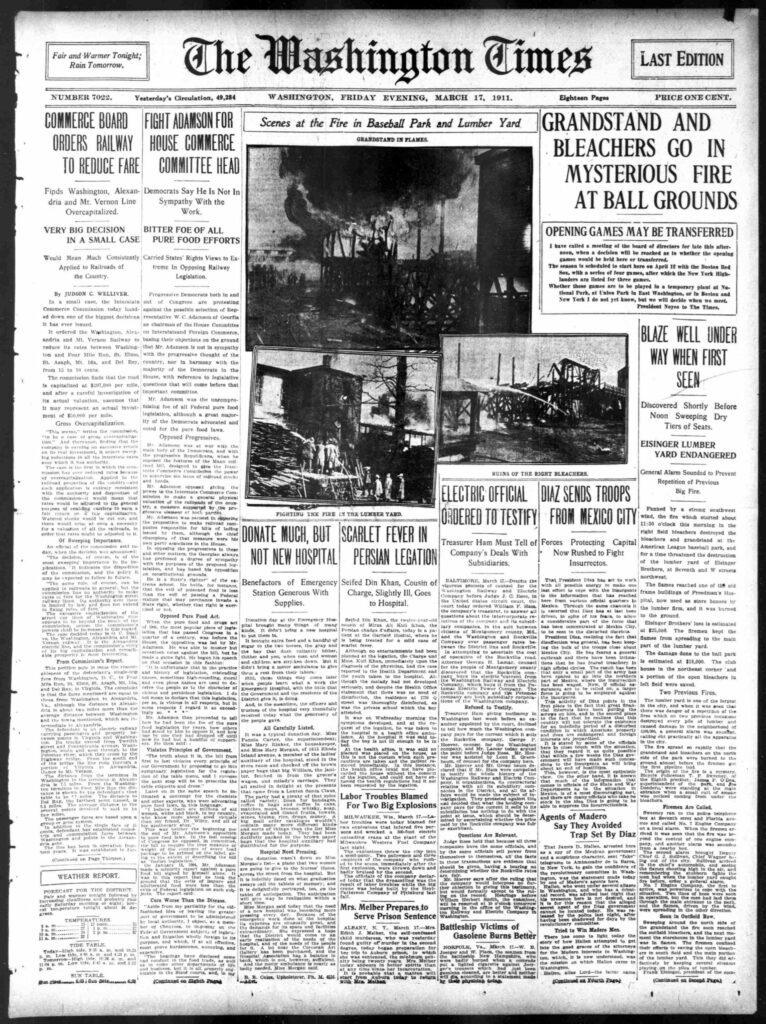 The Washington Times - Friday Evening, March 17th, 1911