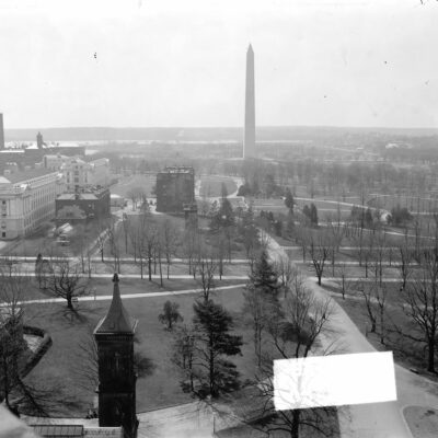 view of Mall from Smithsonian