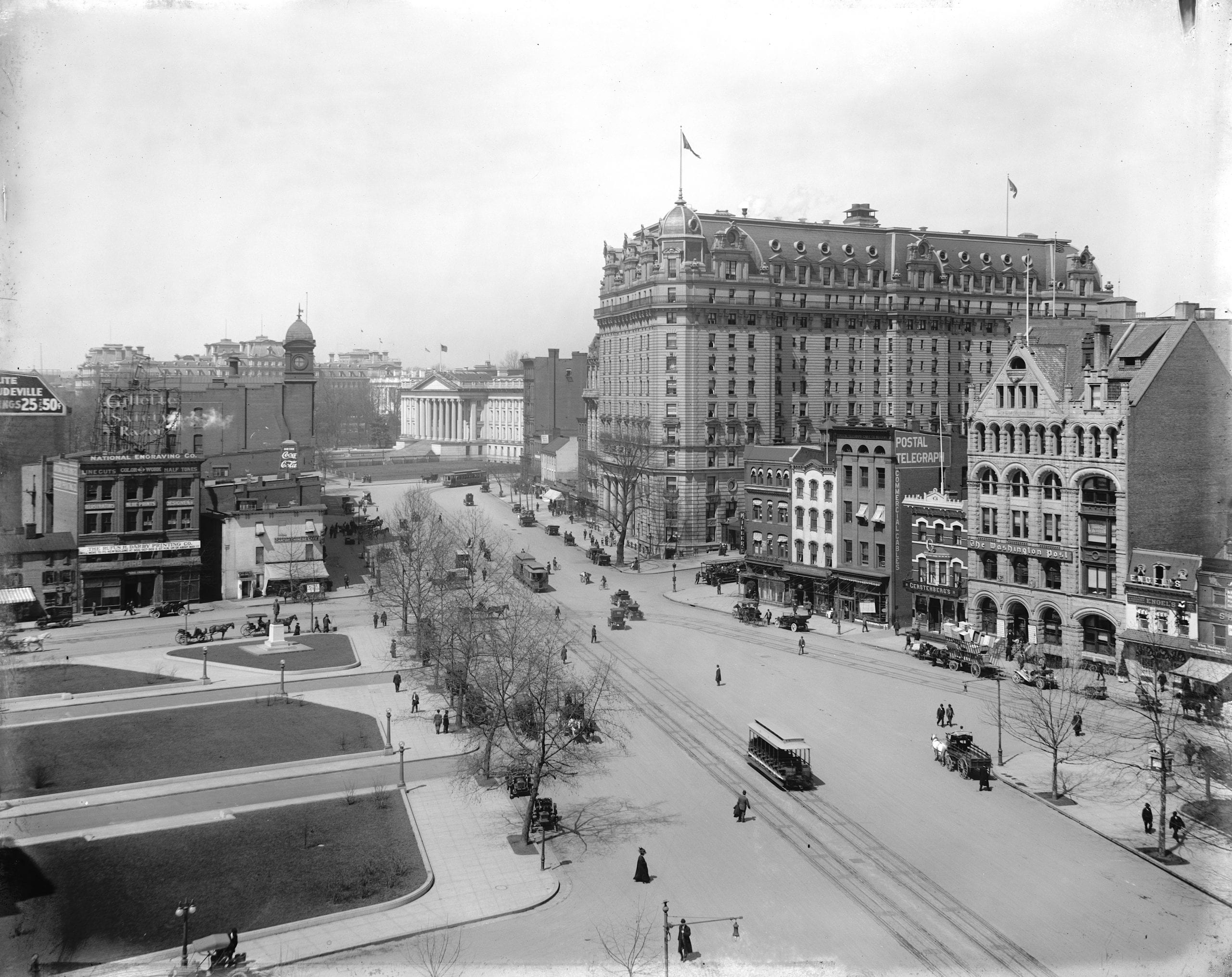 early 1900s view of 11th and Pennsylvania