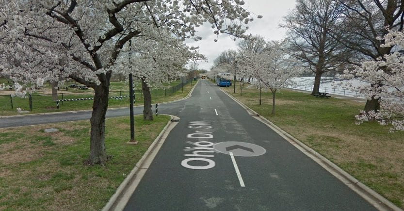 Google Street View of Hains Point