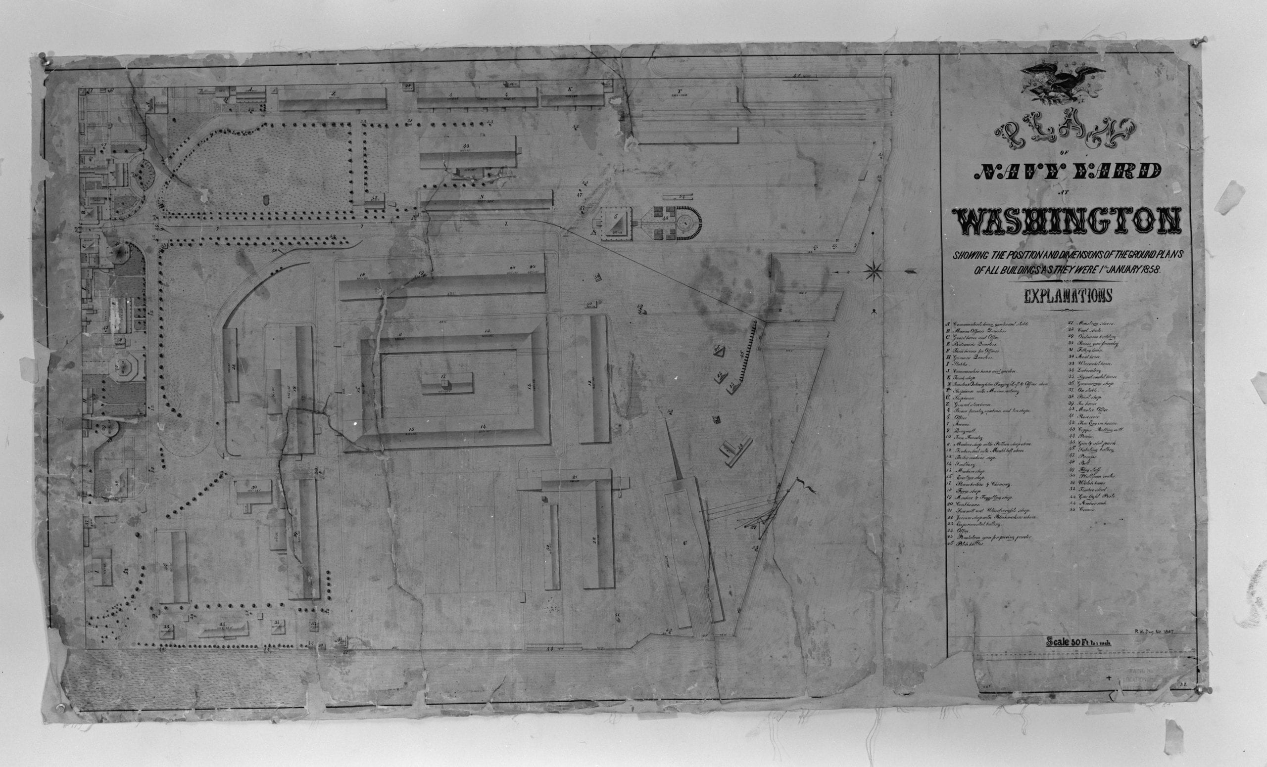 1858 plan of the Navy Yard