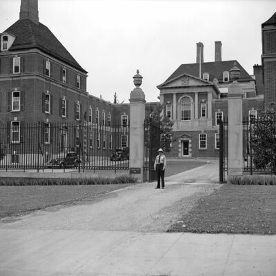 No scare at British Embassy. Washington, D.C., June 18. Despite the tense situation abroad and talk of the fifth columns on this side no increase has made in the police detail guarding the British Embassy here. A solitary minion of the law still guards the majestic building