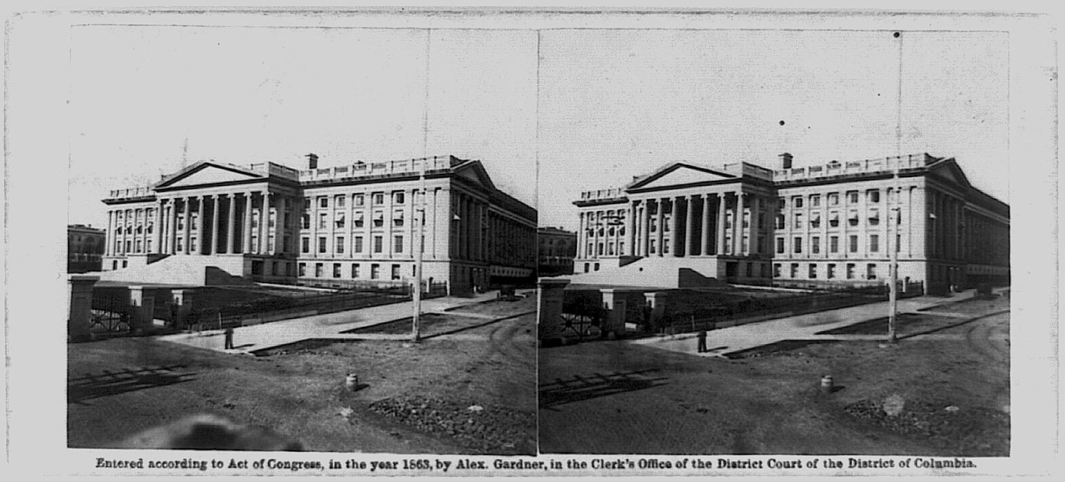Department of Treasury in 1863
