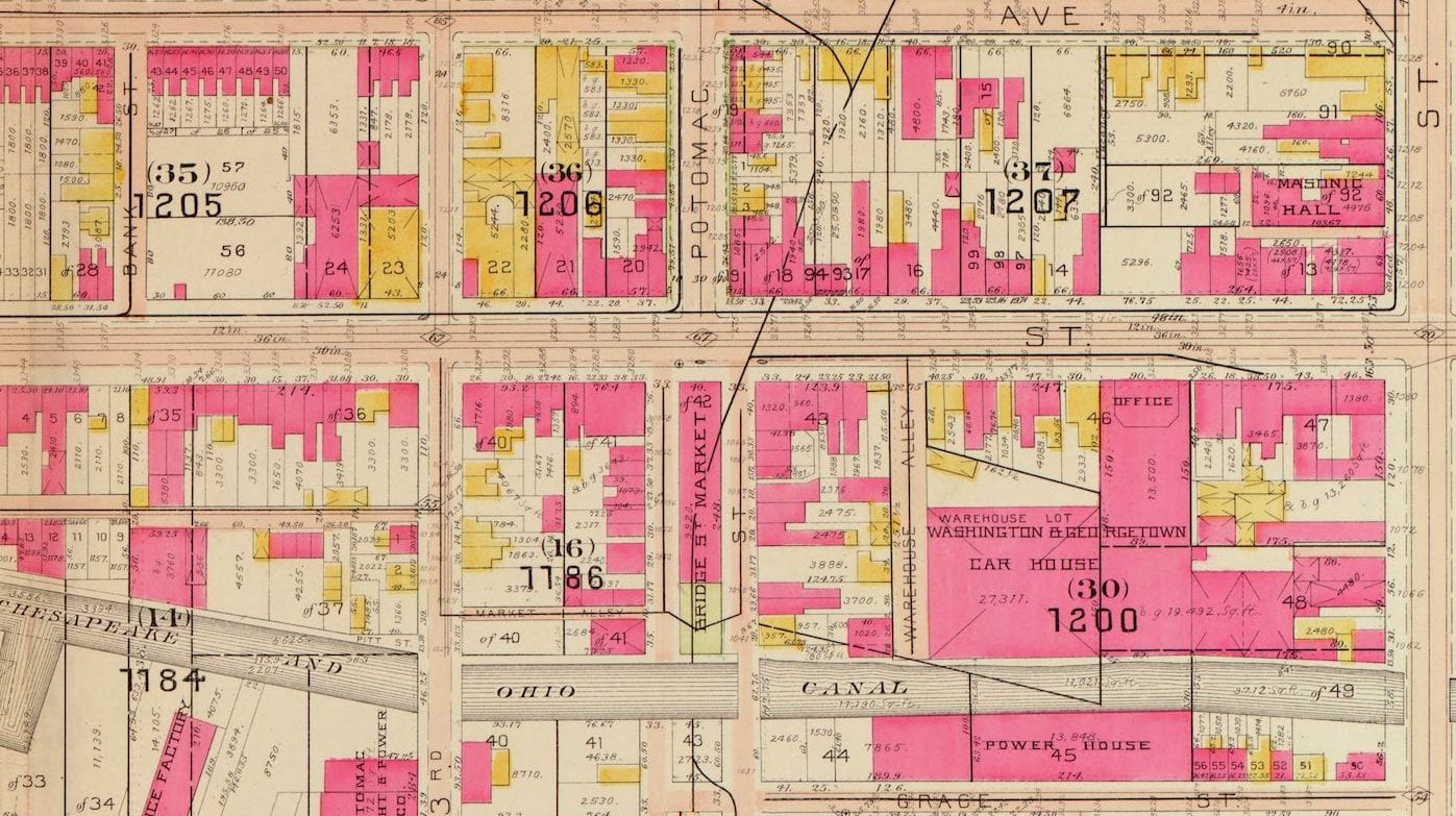 Five Maps of Georgetown in 1903